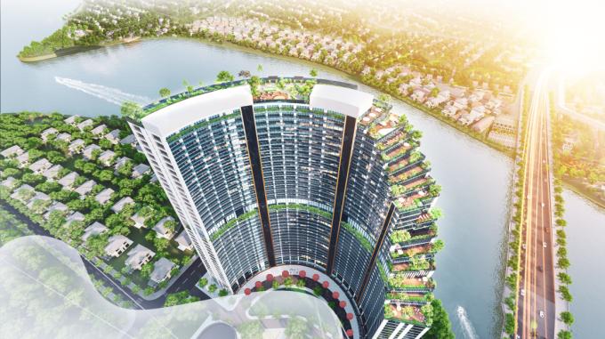 Babylon Tower sở hữu vị trí đẹp nhất quần thể dự án Sunshine Diamond River.