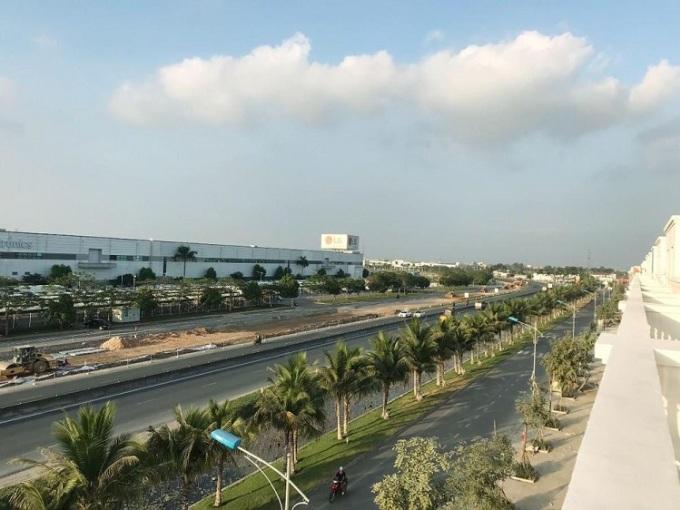 Quốc lộ 5, một trong những tuyến đường được chú trọng phát triển tại An Dương. Ảnh: Cần nguồn.