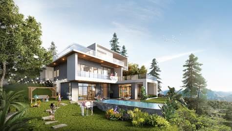Các căn dinh thự 1.000 m2 tại phân khu The Azura nằm ở điểm cao nhất của dự án.