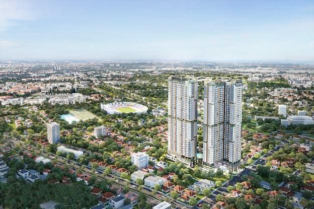 Phối cảnh căn hộ Happy One - Central tại thành phố Thủ Dầu Một.