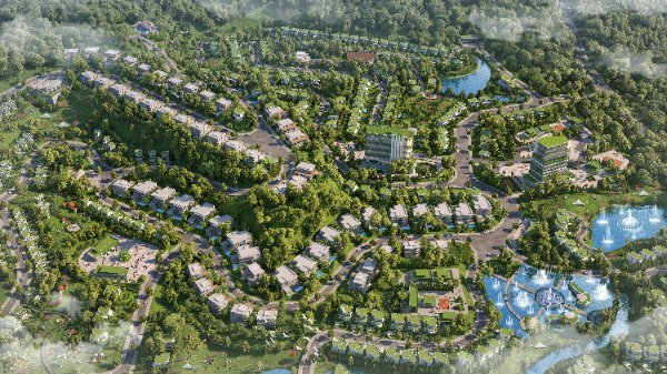 Toàn cảnh phân khu The Azura - Ivory Villas & Resort.
