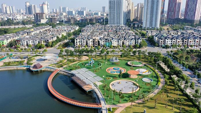 Biệt thự Dương Nội có không gian sống xanh, tiện nghi, cách Mỹ đình 5-7 phút lái xe.