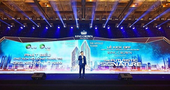 Ông Nguyễn Hồ Nam, Chủ tịch HĐQT Tập đoàn Bamboo Capital chia sẻ những thông tin giá trị về dự án tại sự kiện