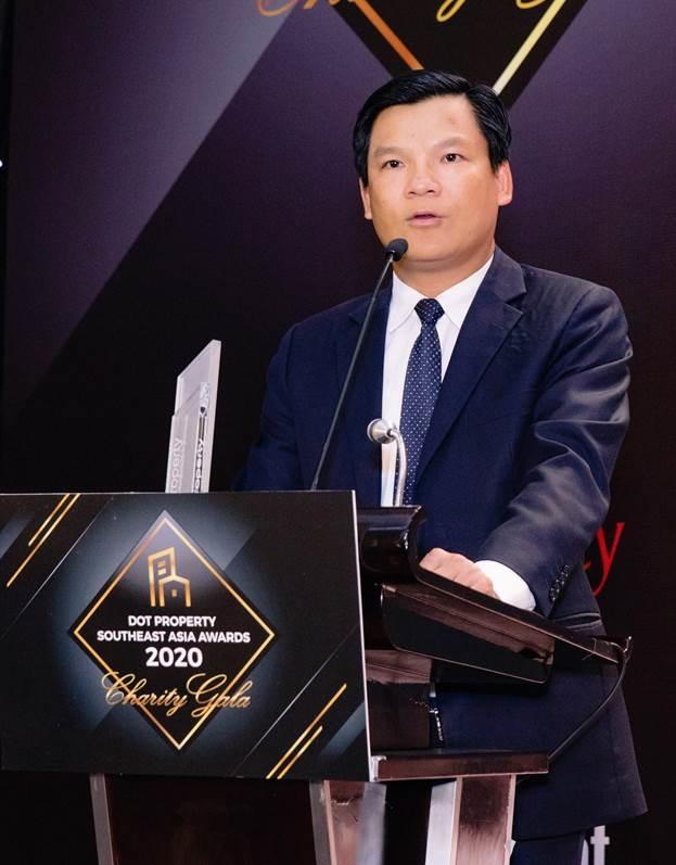 Ông Lê Văn Nam, Tổng giám đốc điều hành SCG phát biểu tại lễ trao giải