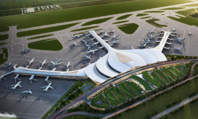 Phối cảnh dự án Cảng hàng không quốc tế Long Thành. Ảnh: ACV