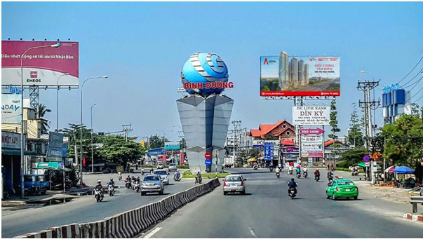 Trục đại lộ dịch vụ, kinh tế, tài chính lớn nhất Bình Dươngsắp được triển khai tại thành phố Thuận An. Ảnh: Hoàng Lam.
