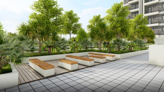 Mảng xanh trong tòa căn hô CT3.