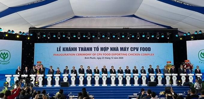 Lễ khánh thành tổ hợp nhà máy CPV Food Bình Phước. Ảnh: CPV Food.
