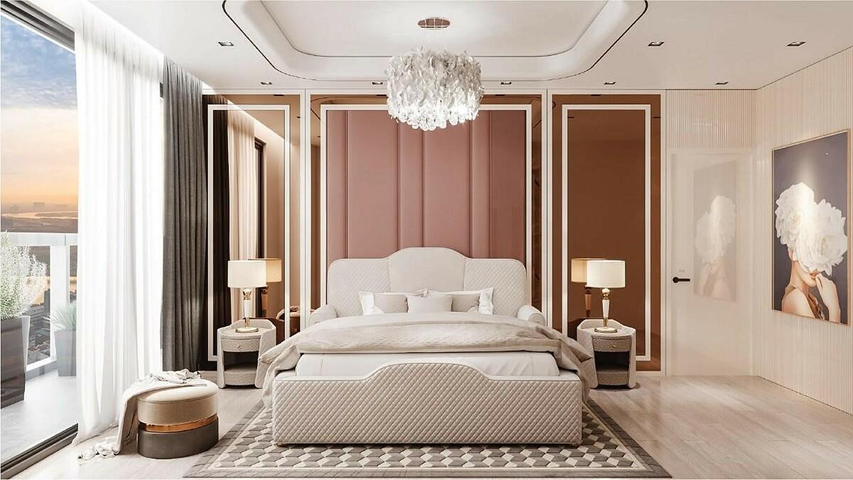 Nội thất phòng ngủ thiết kế tinh tế, ngập tràn nắng gió tự nhiên.