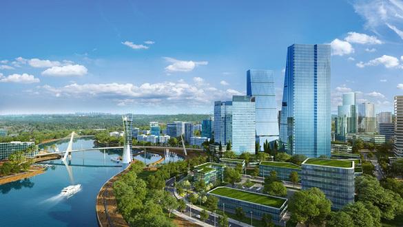 Trung tâm tài chính nằm trong siêu đô thị Zeitgeist. Ảnh phối cảnh: VGSI.