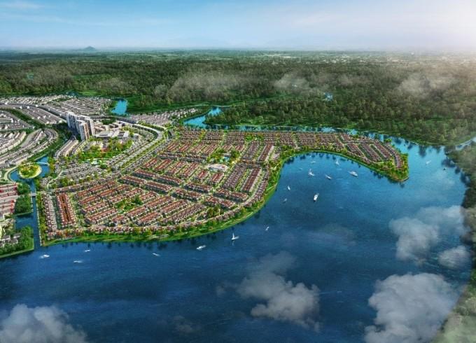 Đảo Phượng Hoàng đang thu hút sự quan tâm lớn của nhà đầu tư và người thành đạt tìm kiếm không gian an cư đẳng cấp tại đô thị vệ tinh của TP HCM. Ảnh phối cảnh: Novaland.