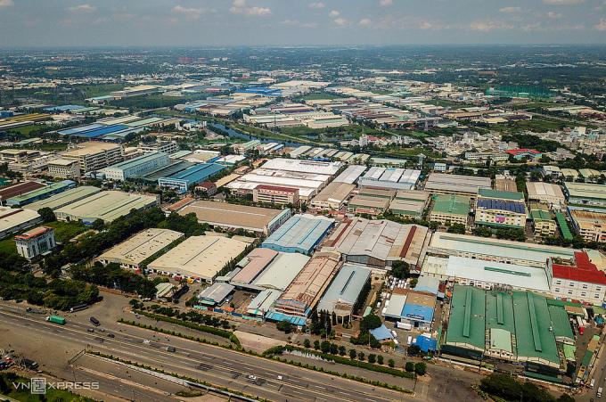 Khu công nghiệp Tân Tạo (quận Bình Tân, TP HCM) hồi tháng 7/2020. Ảnh:Quỳnh Trần.