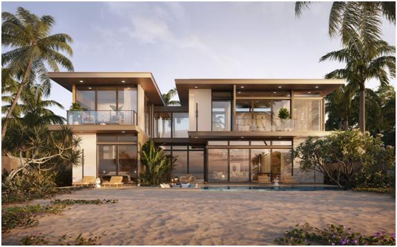 Phối cảnh biệt thự 4 phòng ngủ mặt tiền biển rộng nhất tại khu vực Hồ Tràm
