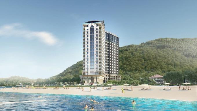 Dự án tọa lạc tại Bãi Dâu, thành phố biển Vũng Tàu. Ảnh phối cảnh: Vietpearl.