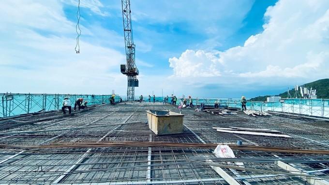 Dự án đảm bảo tiến độ và chất lượng xây dựng, đáp ứng kỳ vọng của người mua. Ảnh: Vietpearl.