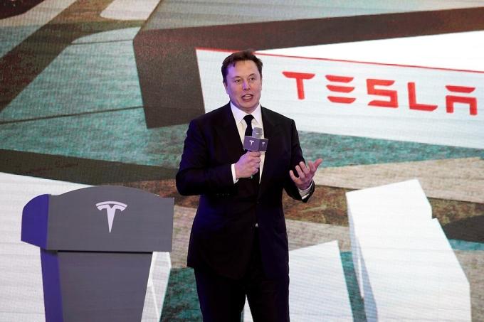 CEO Elon Musk trong một sự kiện của Tesla. Ảnh: Reuters