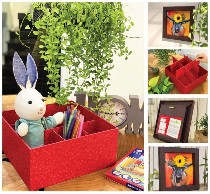 Mỗi hộp quà có thể tái chế theo nhiều mục đích sử dụng khác nhau.