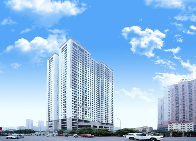Phú Thịnh Green Park hiện đã cất nóc và dự kiến sẽ bàn giao tháng 6/2021.
