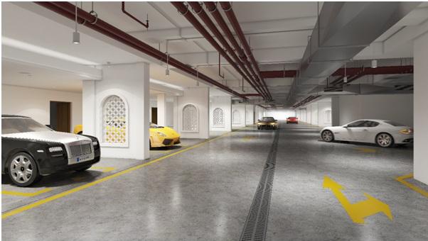 Phối cảnh hệ thống giao thông ngầm đảm bảo sự yên tĩnh, riêng tư của nội khu Grandeur Palace - Giảng Võ.