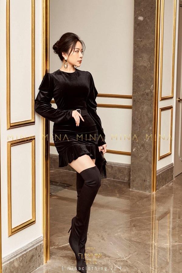 Hồ Thảo My làm mẫu cho những trang phục của thương hiệu Mina Clothing.