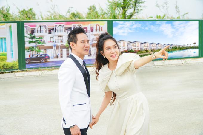 Vợ chồng Lý Hải - Minh Hà bày tỏ sự quan tâm với dự án Happy Home Cà Mau.