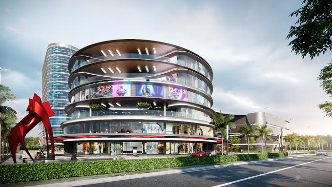 Trung tâm thương mại Lucky Mall nội khu dự án Cát Tường Phú Hưng hứa hẹn tạo điểm đến sầm uất, sôi động hàng đầu Bình Phước. Ảnh phối cảnh: Địa ốc Kim Tinh.