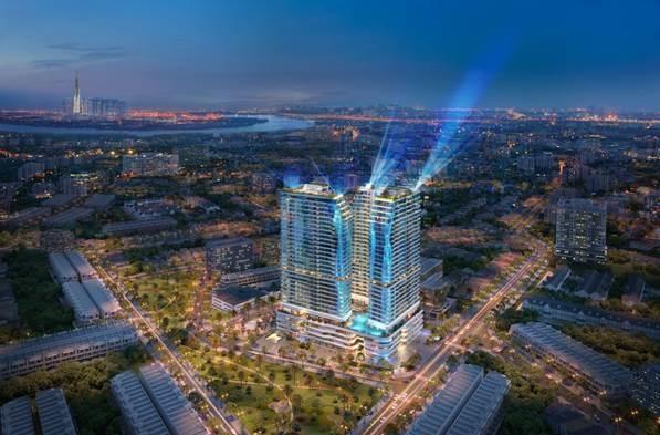 Hội tụ những tinh hoa thiết kế kiến trúc của thế giới, King Crown Infintiy được giới đầu tư cũng như người mua ở thực quan tâm. Ảnh phối cảnh: BCG Land.