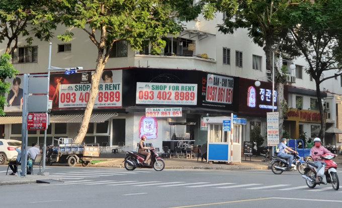 Mặt bằng bán lẻ tại phố Hàn Quốc quận 7, thuộc khu đô thị Phú Mỹ Hưng. Ảnh: Vũ Lê.