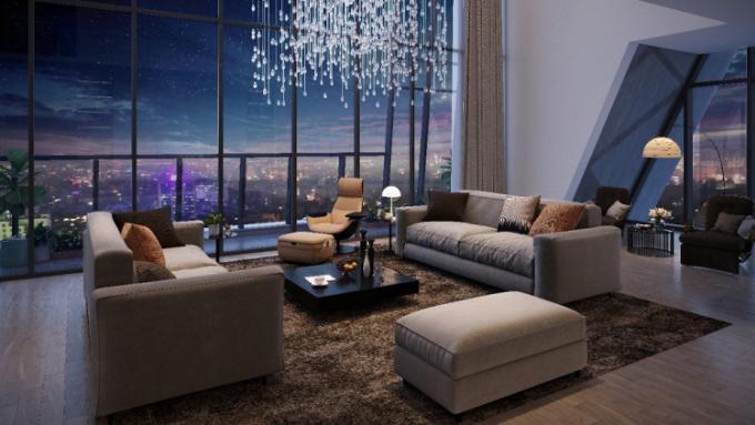 Góc view từ căn hộ duplex tại dự án Grandeur Palace - Giảng Võ.