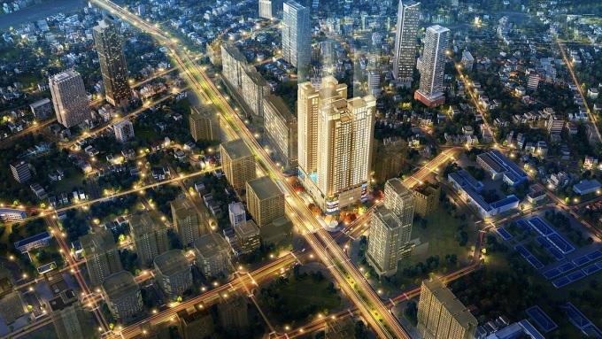 Tòa tháp BRG Diamond Residence - một trong những dự án tiêu biểu của BRG.