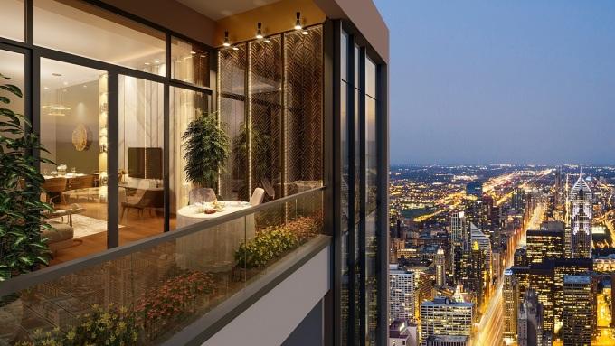 Tầm nhìn từ căn hộ dự án BRG Diamond Residence.