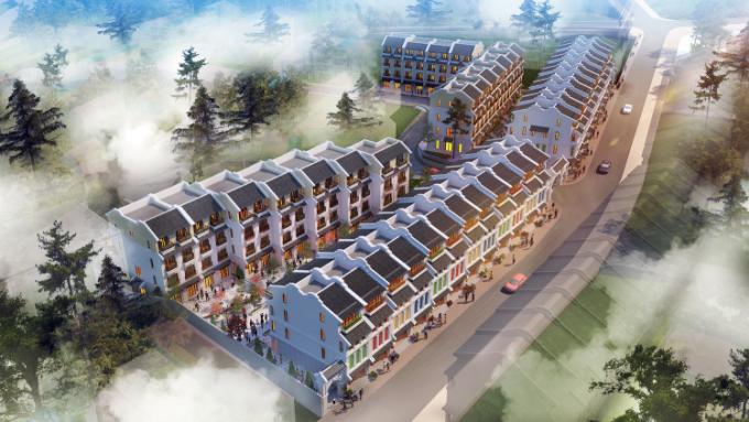 Phối cảnh Sun Plaza Cau May - dự án hoàn thiện bức tranh du lịch - dịch vụ tại phố núi Sa Pa.