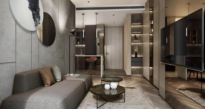 Nội thất căn hộ được cung cấp bởi các thương hiệu danh tiếng. Ảnh phối cảnh: Masterise Homes.