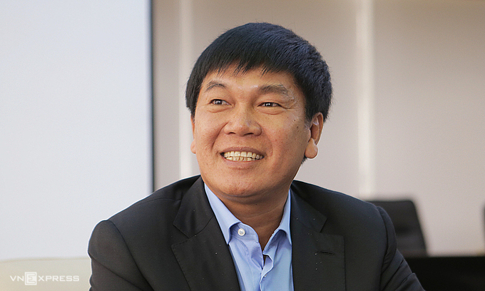 Ông Trần Đình Long, Chủ tịch Tập đoàn Hoà Phát. Ảnh: Anh Tú.