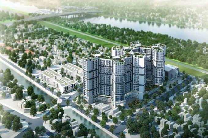 Phối cảnh dự án chung cư của Hoá chất Đức Giang.