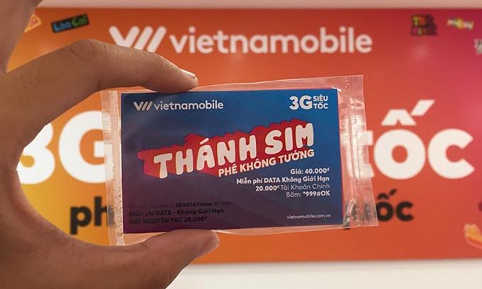 Một bộ hòa mạng giá rẻ của Vietnamobile từng rất hút khách trên thị trường. Ảnh: VNM