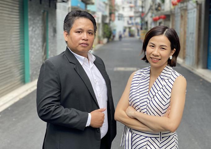 Hai nhà sáng lập VECA Bùi Thế Bảo và Đỗ Thị Minh Trang. Ảnh: Nhân vật cung cấp.