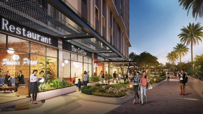 Nhiều cụm tiện ích nội - ngoại khu đồng bộ với căn hộ là điểm thu hút khách hàng của Opal Skyline. Ảnh phối cảnh: Tập đoàn Đất Xanh.