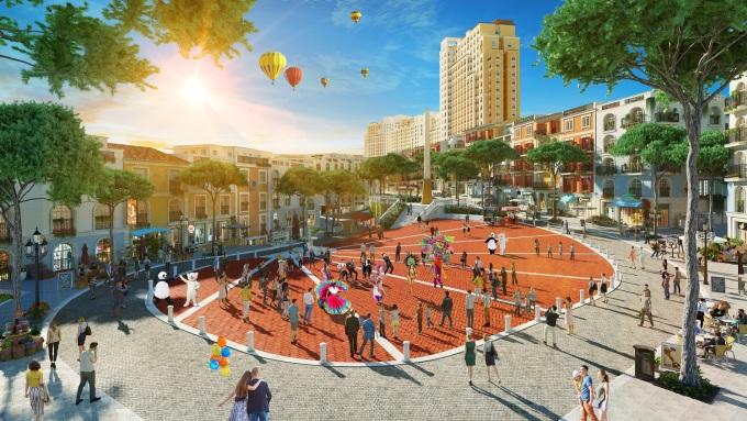 Những không gian công cộng mang cảm hứng văn hóa châu Âu đáp ứng nhu cầu vui chơi, giải trí của cư dân The Hill.