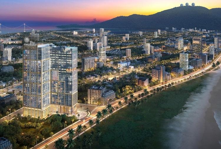 Phối cảnh dòng sản phẩm căn hộ cao cấp ven biển tại Đà Nẵng.