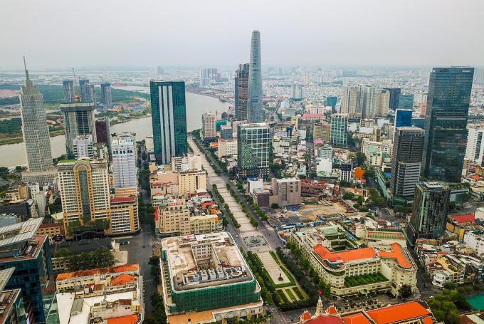 Văn phòng ảo thường chỉ có quy mô rất nhỏ, chiếm một hoặc hai sàn của các cao ốc tọa lạc tại khu lõi trung tâm quận 1, TP HCM. Ảnh: Quỳnh Trần.