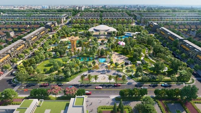 Công viên trung tâm Gem Sky Park rộng 3 ha sẽ sớm hoàn thiện theo đúng cam kết. Ảnh phối cảnh: Tập đoàn Đất Xanh.