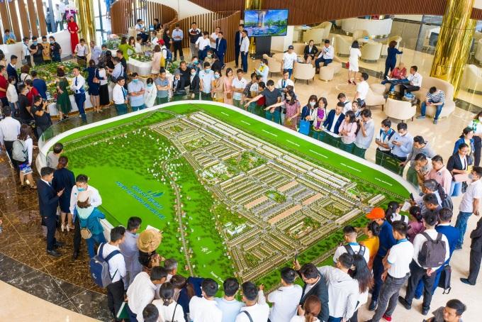 Các nhà đầu tư dự án Gem Sky World quy mô 92,2 ha giai đoạn đầu thu về mức lợi nhuận tốt sau vài tháng. Ảnh: Tập đoàn Đất Xanh.