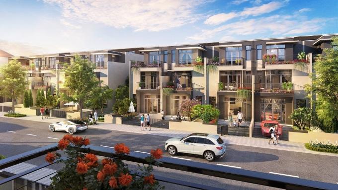 Sản phẩm nhà phố xây sẵn phân khu Sapphire Parkview lần đầu tiên được giới thiệu ra thị trường. Ảnh phối cảnh: Tập đoàn Đất Xanh.
