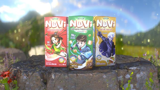Các sản phẩm NuVi đã được tung ra thị trường, sẵn sàng đến tay trẻ em Việt. Ảnh: NutiFood.