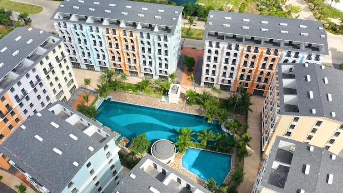Dự án Phu Quoc Marina Square nhìn từ trên cao.
