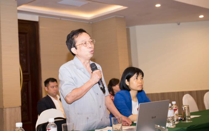 Ông Phạm Xuân Hoè chia sẻ tại hội thảo. Ảnh: VCCI.