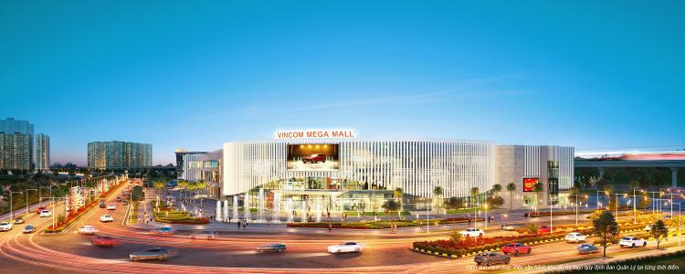 Vincom Mega Mall là trung tâm mua sắm, giải trí với hàng trăm thương hiệu quốc tế.