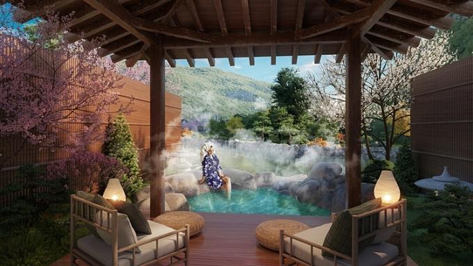 Sun Onsen Village - Limited Edition có suối khoáng nóng ngay trong nhà.