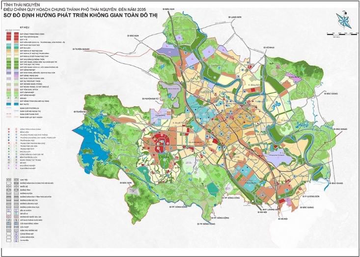 Quy hoạch định hướng phát triển không gian đô thị TP Thái Nguyên đến năm 2035.